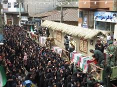 تشییع پیکر شهدا در شهر پلسفید