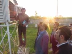 بازدید جمعی از نخبگان از ایستگاه هواشناسی قراخیل