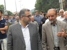 تشییع پیکر شهدا در شهر لاله پرور زیراب