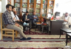 دیدار جمعی از نخبگان با امام جمعه محترم شهرستان جویبار