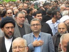 حضور مهندس یوسفعلی جوانی در تشییع جنازه آیت الله بابایی