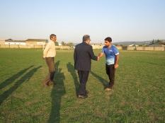 دیدار مهندس یوسفعلی جوانی با ورزشکاران زمین ورزشی شهرک یثرب