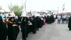 حضور جمعی از نخبگان در تشییع پیکر شهدای غواص در سیمرغ