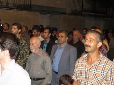 حضور جمعی از نخبگان در وداع با شهدا غواص مسجد ولیعصر