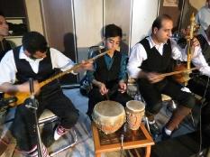 حضورمهندس یوسفعلی جوانی در نمایشگاه خوشنویسی کافه رستوران فرهنگی هنری کلبه قائمشهر
