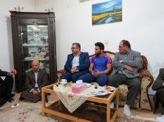 دیدار یوسفعلی جوانی با پهلوان طلایی ایران سید احمد محمدی قادیکلایی