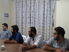 دیدار جمعی از هنرمندان قائم شهری با رئیس مجمع عالی نخبگان قائم شهر