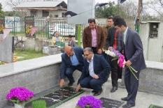 حضور مهندس یوسفعلی جوانی رئیس مجمع عالی نخبگان شهرستان قائمشهر بر سر مزار شهدای دفاع مقدس